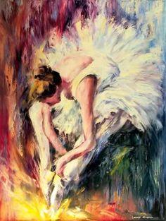 Seated Dancer Original Art by Leonid Afremov :: PicassoMio