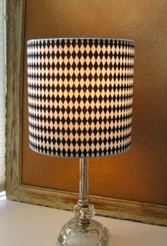 It's Black It's White Harlequin Lampshade by Sassyshades on Etsy, $45.00