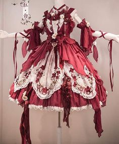 Pretty Outfits, Pretty Dresses, Beautiful Outfits, Kawaii Dress, Kawaii Clothes, Cosplay Dress, Cosplay Outfits, Old Fashion Dresses, Fashion Outfits