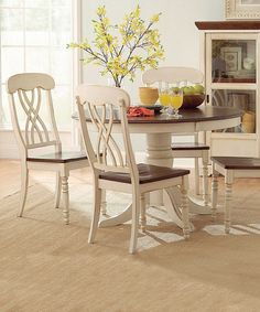 Look what I found on #zulily! Antique White Yorkshire Five-Piece Dining Set by HomeBelle #zulilyfinds