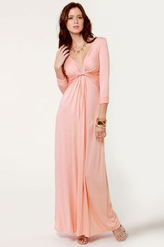 * With a Twist Light Pink Maxi Dress from LuLu's  $40