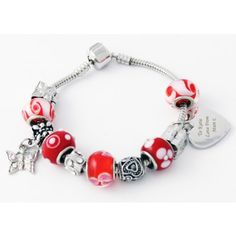 Personalised Cherry Charm Bracelet  from www.personalisedweddinggifts.co.uk :: ONLY £29.95
