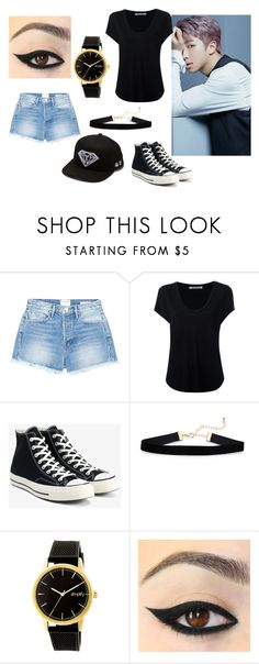 """""""Rap Monster's Girl"""" by julia-the-white-wolf ❤ liked on Polyvore featuring Frame, Alexander Wang, Converse, Simplify and Diamond Supply Co."""