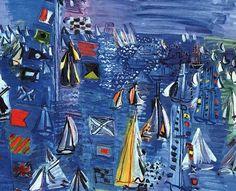 """""""Pintar é fazer aparecer uma imagem que não é a da aparência natural das coisas mas que tem a força da realidade.""""   ― Raoul Dufy  Regatta em Cowes (1934) Raoul Dufy - National Gallery of Art, Washington, D.C."""