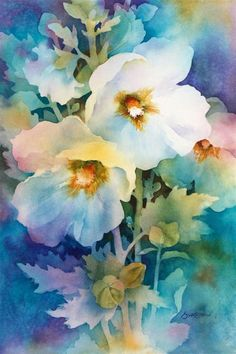 """""""Rise and Shine"""" watercolor by Susan Crouch. Great example of negative painting. """"Rise and Shine"""" watercolor by Susan Crouch. Great example of negative painting. Watercolor Negative Painting, Watercolor Cards, Watercolor Flowers, Painting & Drawing, Watercolor Artists, Art Painting Flowers, Floral Paintings, Watercolor Portraits, Watercolor Landscape"""