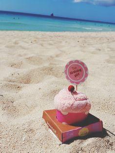 Creative Cupcake Towels at the Beach.