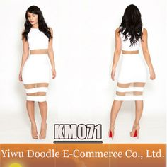 Free Shipping Sexy One Pieces bandage dress 2014 Summer White Cut Out dress bodycon bandage dress Night Club Wear Fashion Women $12.99