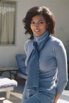 Pam Grier. Casual and relaxed.