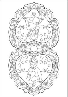 Image detail for -Free Coloring Pages: Vintage Valentines * Vintage inspiration Wedding Coloring Pages, Unique Coloring Pages, Valentine Coloring Pages, Spring Coloring Pages, Free Coloring Pages, Coloring Books, Vintage Valentines, Kids Valentines, Colorful Pictures