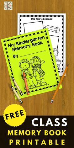 FREE Kindergarten Memory Book - this is such a fun way to celebrate the end of t.,FREE Kindergarten Memory Book - this is such a fun way to celebrate the end of the year with these free printable worksheets to remember your students. Kindergarten Social Studies, Free Kindergarten Worksheets, Kindergarten Graduation, Kindergarten Activities, Preschool Memory Book, Preschool Books, Kindergarten Memory Books, Printable Worksheets, Free Printable