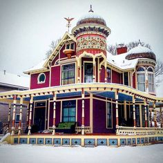 Steampunk Tendencies — Snowy Victorian Houses (Part 2) (Part 1) [ ...
