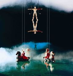 Cirque du Soleil's 'O' showing at the Bellagio. The most amazing show I have ever seen!