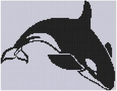 Killer Whale 4 Cross Stitch Pattern