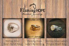 Sterling Silver Bullet Rings by Flaming Hope