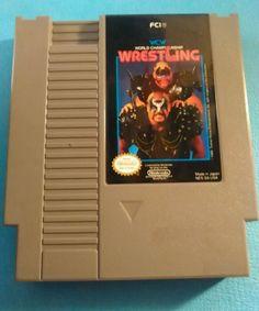 WCW World Championship Wrestling Nintendo Entertainment System, 1990 Cartridge