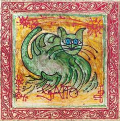 Daniele cat (Framed with crest)/Im Hyun-sook - ARTMUSEE::KOREAN ARTISTS' ART SHOPPINGMALL