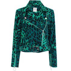 Baum und Pferdgarten Britany Leopard Print Jacket ($340) ❤ liked on Polyvore featuring outerwear, jackets, jacket's, animals, cropped jackets, leopard jacket, baum und pferdgarten, long sleeve crop jacket and leopard print jacket