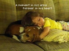 ♥ This is just too sweet.  There is nothing quite like the bond between a little girl and her dog.