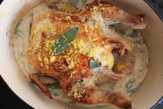 The Best Roast Chicken Ever aka Jamie Oliver's Chicken in Milk