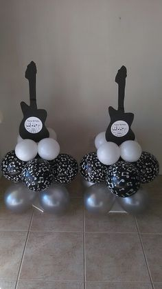 Music note ballons decor
