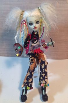 Bohemian Monster High Custom Repaint Frankiestein Doll by Refabrications