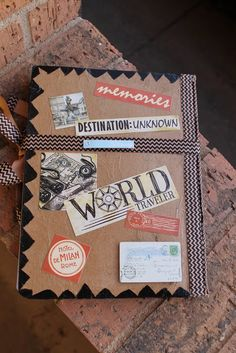 Child at Heart: DIY Travel Journal Smash Book Gift Idea for a Graduate