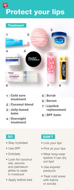 Cold season can often leave you with dry lips. Find out which products are right… – Care – Skin care , beauty ideas and skin care tips Beauty Make Up, Beauty Care, Beauty Skin, Health And Beauty, Face Care, Body Care, Cold Sore Treatment, Beauty Junkie, Beauty Secrets