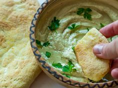 Baba Ganoush with homemade pitta bread