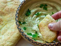 Baba Ganoush with homemade pitta bread