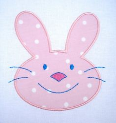 Bunny Face Applique Machine Embroidery 4x4 by DigitizedCreations, $3.99 Bunny Face, Dinosaur Design, Face Design, Machine Embroidery Applique, Applique Ideas, Embroidery Designs, 4x4, Softies, Bunnies