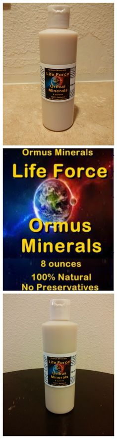 Life Force Energy Ormus 8oz  $40