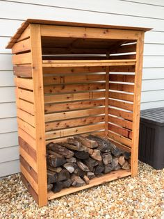 Keep your firewood protected from the elements! Check out this easy-to-build Cedar Firewood Rack & Storage Shed from Metro Building Products! Firewood Rack Plans, Outdoor Firewood Rack, Firewood Storage, Outdoor Storage, Firewood Holder, Wood Storage Rack, Wood Storage Sheds, Storage Shed Plans, Pallet Barn