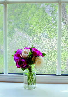 A dazzling pattern of leaves creates a mesmerizing sight on your glass that's a perfect way to refresh any plain surface