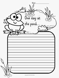 Frog and Toad Craft --- Frog and Toad Writing Prompt Craftivity Kindergarten Writing Prompts, Writing Prompts Funny, Preschool Writing, Picture Writing Prompts, Writing Lessons, Teaching Writing, Kindergarten Activities, Literacy, Sentence Writing