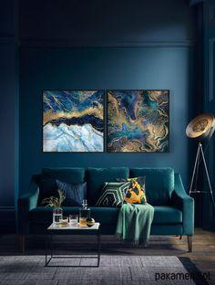 Abstrakcja - Komplet Grafik - 2 sztuki - malarstwo - Pakamera.pl My Dream Home, Couch, Furniture, Home Decor, Drawing Rooms, Settee, Sofa, My Dream House, Couches
