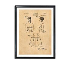Breast Supporter Patent Patent Prints Vintage wall art