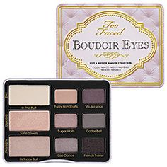 Too Faced - Boudoir Eyes Soft & Sexy Eye Shadow Collection  #sephora