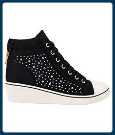 Damen Wedge Sneakers (16294-BLK-6) - Sneakers für frauen ( Partner-Link) 217e38c366