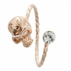 #lovebaubles.com          #ring                     #Rose #Gold #Skull #Stone #Ring                     Rose Gold Skull & Stone Ring                                                  http://www.seapai.com/product.aspx?PID=1236393