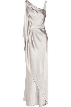 The Amanda Wakeley One Shoulder Asymmetric Dress, worn for November 2011 National Memorial Arboretum appeal