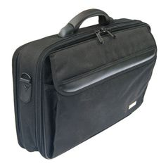 Leather Polyester Laptop Bag - This Leather Black Polyester Laptop Bag has a padded laptop compartment with adjustable velcro divider and retaining straps. There is a front zip down pocket with detailed organiser section, a rear zipped filing section and a smart sleeve to fit over the trolley handle. Most important all are made of heavy duty zips. Dimensions: H (42cms)  L(28cms) D(14cms). Materials: 100% Leather, with Twill lining. Colours: Black