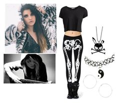 Day with Juliet Simms :3 by dadyrabbit on Polyvore featuring polyvore fashion style Pieces Snö Of Sweden E.vil outfit black JulietSimms YAAY