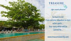 From extreme relaxation to more active sports....your every whim will be catered for! What's your favourite 'thing to do' at Treasure Island Resort #treasureislandfiji #tourismfiji #fiji #mamanucaislands #tellyamates http://www.treasureisland-fiji.com/