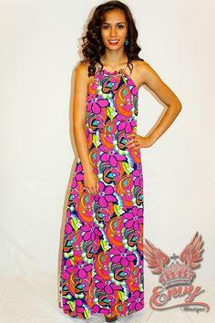 60s Theme, Latest Dress, Flower Prints, Bohemian Style, Flower Power, Fashion Dresses, Wedges, Cozy, Hat