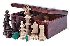 A Tournament Staunton No 4 Chess Pieces & Box - Official Staunton