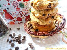 Abóbora Menina: Cookies de Chocolate e Passas