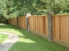 Fence | building a wooden fence 2 How To Build a Wooden Fence  (would like this for my front side yard)   SAVING