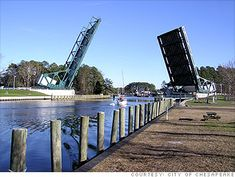 Great Bridge ::Chesapeake, VA. Drawbridge over the Intra-Coastal Waterway, just up the road from us.