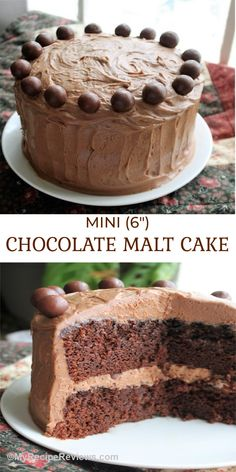 Deeply chocolate malt cake with creamy chocolate malt frosting. Incredible! Chocolate Malt Cake, Cupcake Cakes, Cupcakes, Rich Cake, Malted Milk, Different Cakes, Small Cake, Food Reviews, Unsweetened Cocoa
