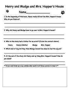 This is a compilation of seven reader response sheets that I created to accompany books in the Henry and Mudge book series. Enjoy! :)